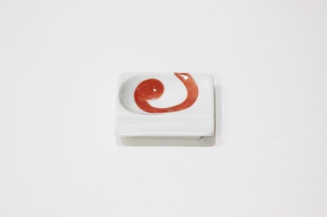 染付シリーズ 重宝皿 渦紋 赤
