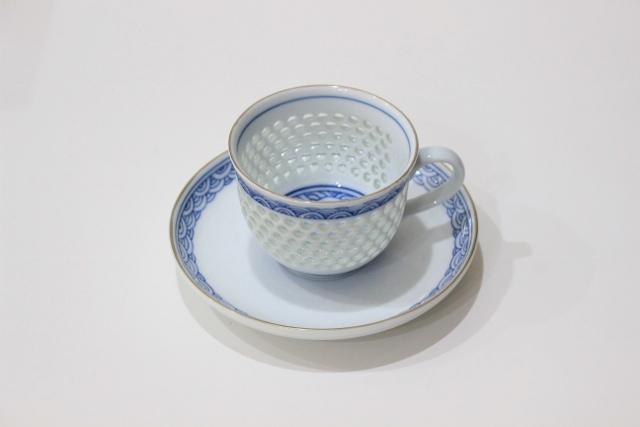 水晶青海波 コーヒーカップ&ソーサー