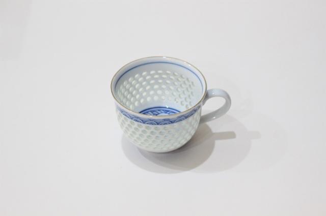 水晶青海波<br /> コーヒーカップ&ソーサー