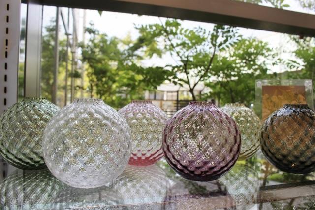 フィオラグリッド ボール花器(クリアー)