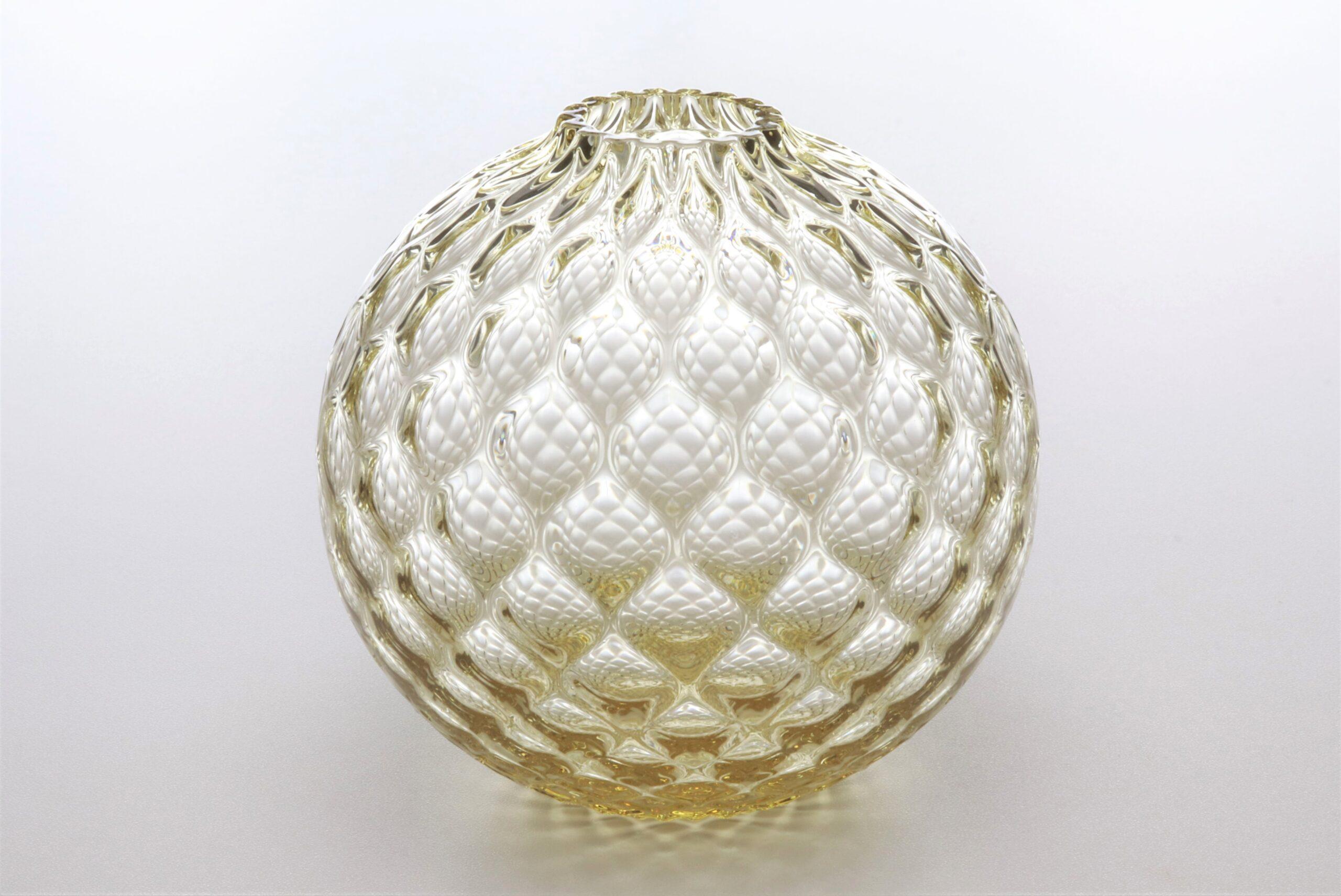 フィオラグリッド<br /> ボール花器(タン)