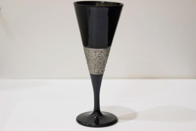 プラチナリングシリーズ フルートグラス 黒