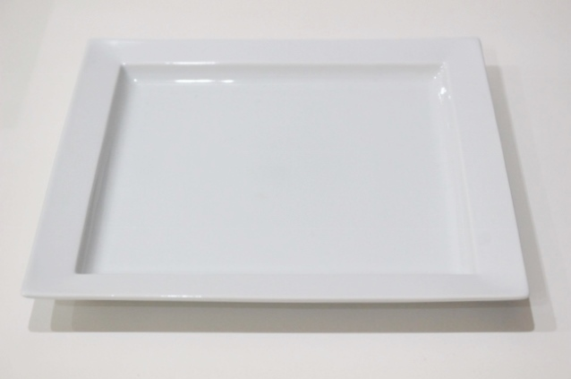 白磁 角プレート・L