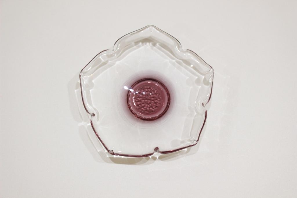 プリムラ<br /> 泡花皿(ワインレッド)