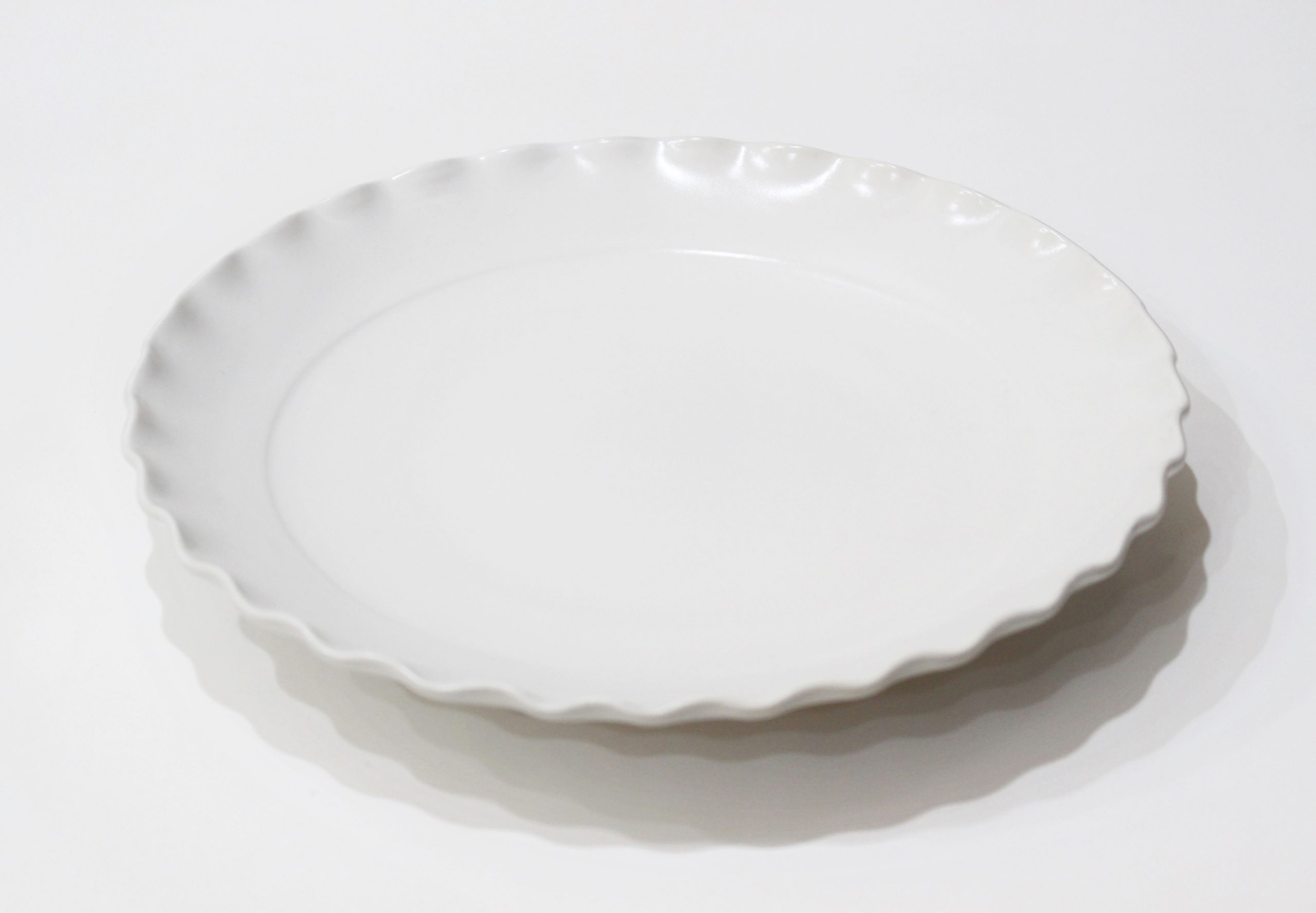 波<br /> 8寸皿(白)