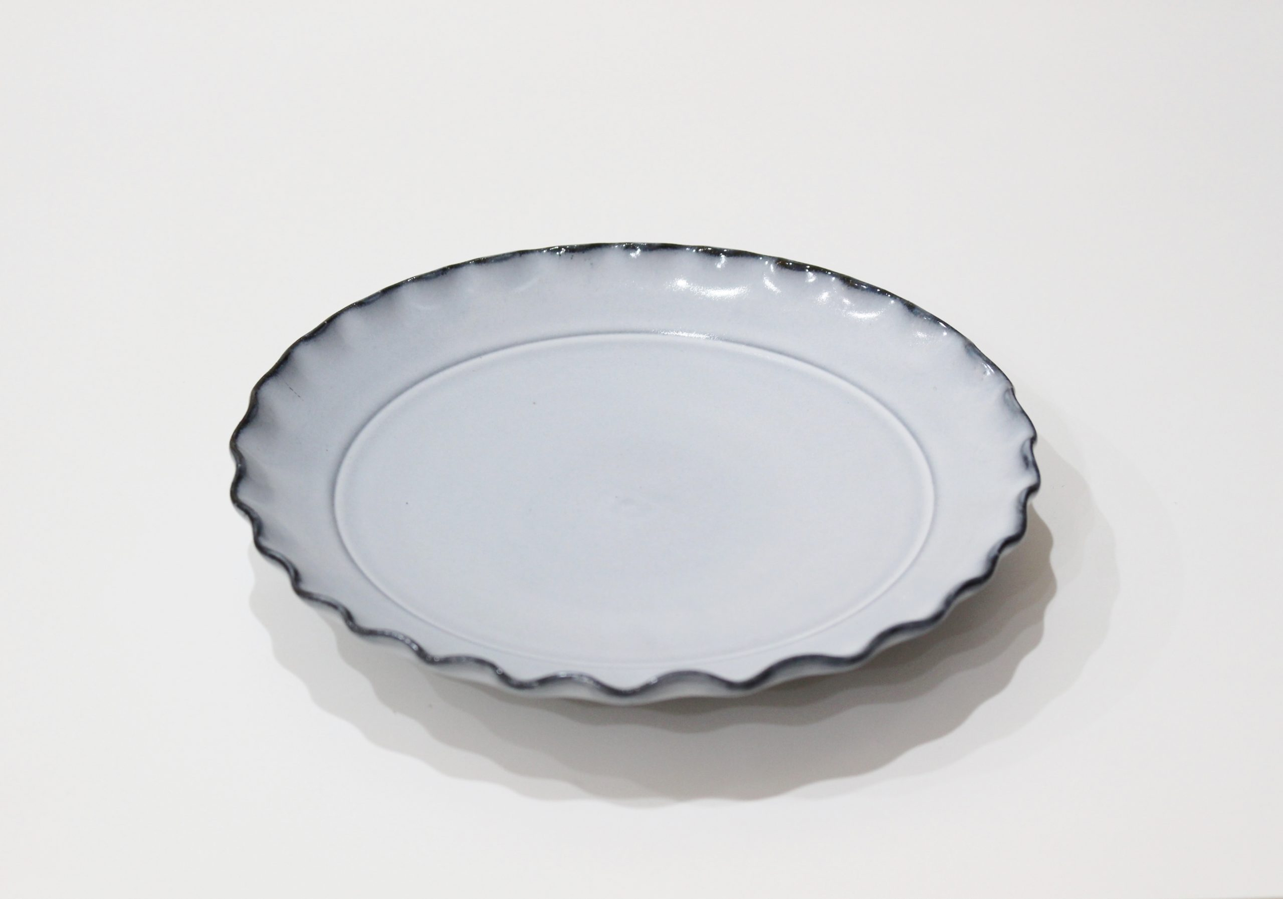 波<br /> 6寸皿(グレー)
