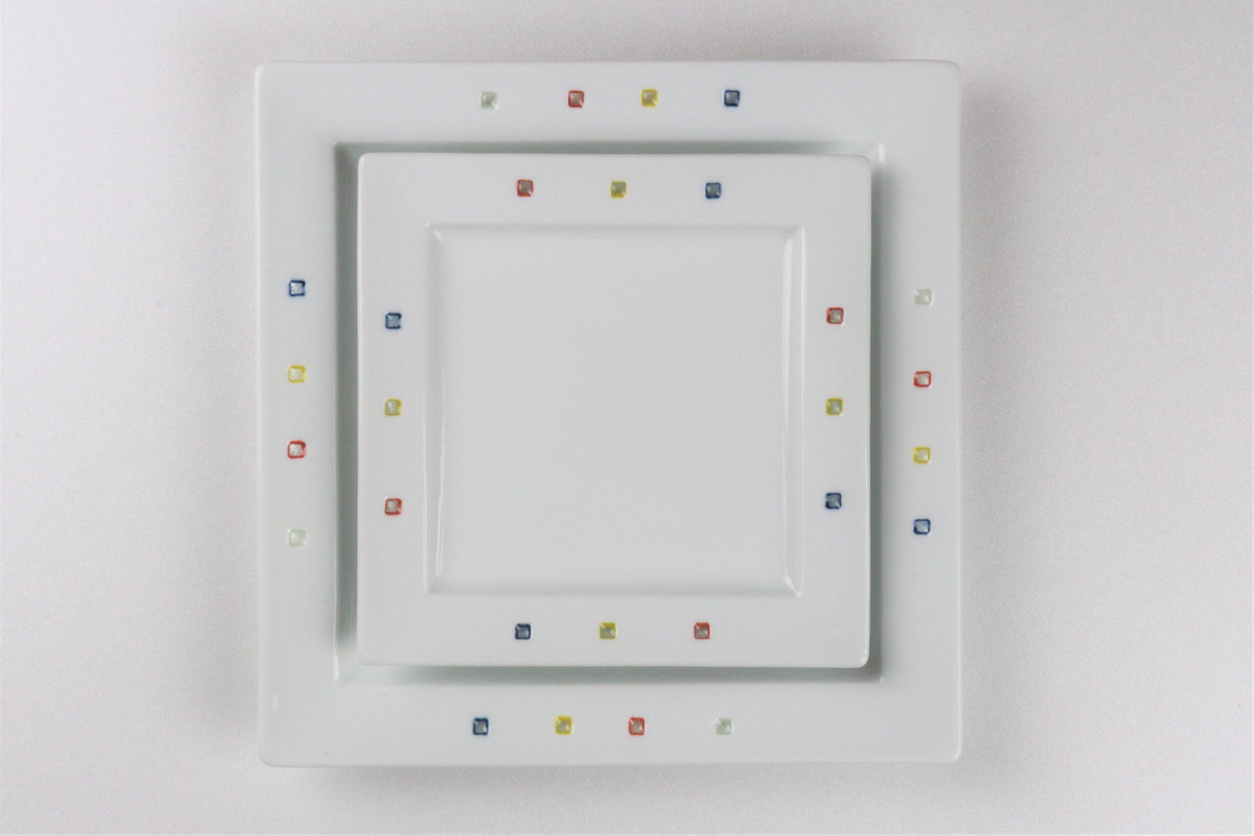 水晶カラフルスクエア<br /> 角プレート